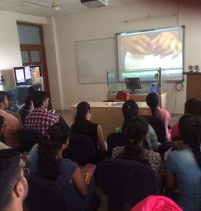 Movie Session Organized for students of PGDIB