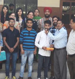 KLSD student bags university position in BCA 1st Semester Examination