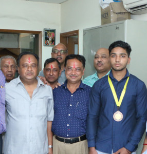 Bronze Medal won by Arun Kumar of KLSD, College, Ludhiana in '10 meter Air Pistol'