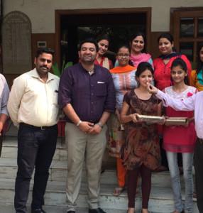 Amrit Mall of KamlaLohtia College topped MEFB in Panjab University