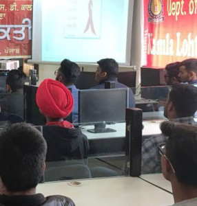 Awareness Seminar on AIDS and Drug Addiction held at Kamla Lohtia S.D. College