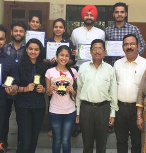 "Kamla Lohtia S. D. College Students excelin ""Festin'o beats"" held at LCET, Katani Kalan"