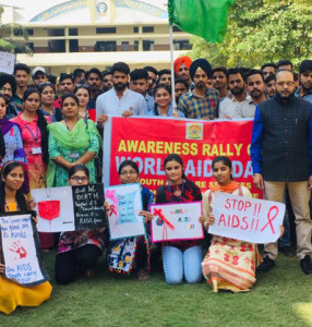 Awareness Rally on AIDS organized by Kamla Lohtia S.D. College