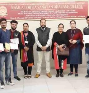 Kamla Lohtia S. D. College Students win several prizes in Inter College event 'Digi Quest 2019' at GGNIMT, Ludhiana